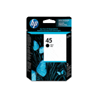 Genuine HP No 45 Black Ink Cartridge 51645A.  Page Yield: 833 pages