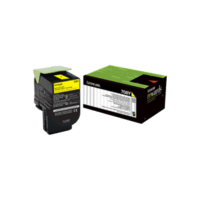 Genuine Lexmark 70C80Y0 708Y Yellow Toner Cartridge