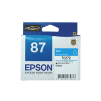 Genuine Epson 87 Cyan Ink Cartridge Page Yield: 915 pages