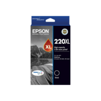Genuine Epson 220XL Black Ink Cartridge Page Yield: 500 pages