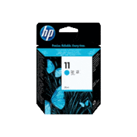Genuine HP No 11 Cyan Ink Cartridge C4836A.  Page Yield: 1830 pages