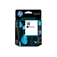 Genuine HP No 18 Black Ink Cartridge C4936A.  Page Yield: 850 pages