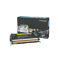 Genuine Lexmark C734A1YG Yellow Toner Cartridge