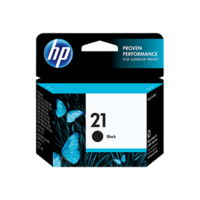 Genuine HP No 21 Black Ink Cartridge C9351AA.  Page Yield: 185 pages