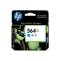 Genuine HP No. 564XL Cyan Ink Cartridge CB323WA.  Page Yield: 750 pages