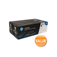 Genuine HP 304A Black Toner Cartridge TWIN PACK CC530AD.  Page Yield: 2 x 3500 pages