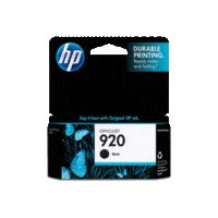Genuine HP No. 920 Black Ink Cartridge CD971AA.  Page Yield: 420 pages