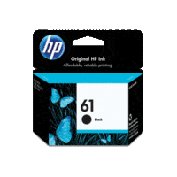 Genuine HP No 61 Black Ink Cartridge CH561WA.  Page Yield: 190 pages