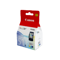 Genuine Canon CL-511 Colour Ink Cartridge. Page Yield 244 pages