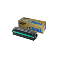 Genuine Samsung CLT-C506L Cyan Toner Cartridge Page Yield: 3500 pages