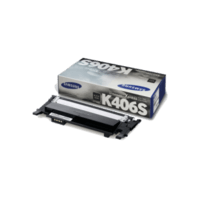 Genuine Samsung CLT-K406S Black Toner Cartridge Page Yield: 1500 pages