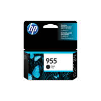 Genuine HP No. 955 Black Ink Cartridge L0S60AA.  Page Yield: 1000 pages