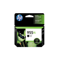 Genuine HP No. 955XL Black Ink Cartridge High Yield L0S72AA.  Page Yield: 2000 pages
