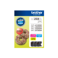 Genuine Brother LC-233CL3PK Colour Ink Cartridge Value Pack