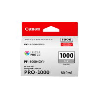 Genuine Canon PFI1000GY Grey Ink. Page Yield 80ml