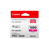 Genuine Canon PFI1000M Magenta Ink. Page Yield 80ml