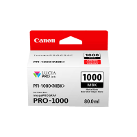 Genuine Canon PFI1000MBK Matte Black Ink. Page Yield 80ml