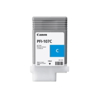 Genuine Canon PFI107C Cyan Ink Cartridge. Page Yield 130ml