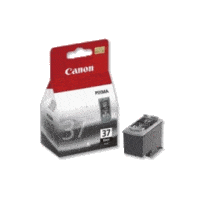 Genuine Canon PG-37 FINE Black Ink Cartridge. Page Yield 219 pages