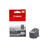 Genuine Canon PG-50 FINE Black Ink Cartridge. Page Yield 510 pages