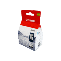 Genuine Canon PG-512 Black Ink Cartridge. Page Yield 401 pages