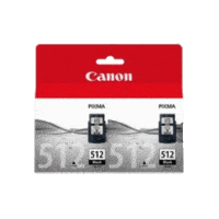 Genuine Canon PG-512 Black Ink Cartridge Twin Pack. Page Yield 2 x 401 pages