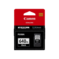 Genuine Canon PG-640XL Black Ink Cartridge. Page Yield 400 pages