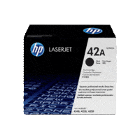 Genuine HP 42A Toner Cartridge Q5942A.  Page Yield: 10000 pages